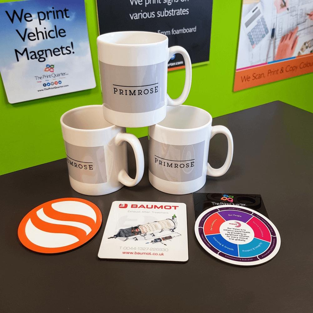 Printed Pens, Mugs And Coasters