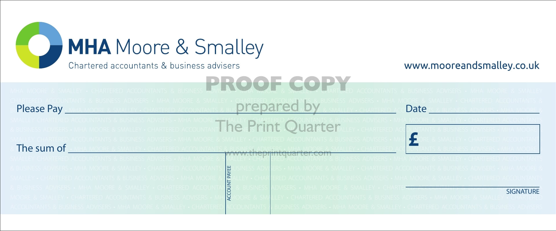 Re-Usable Laminated Cheques