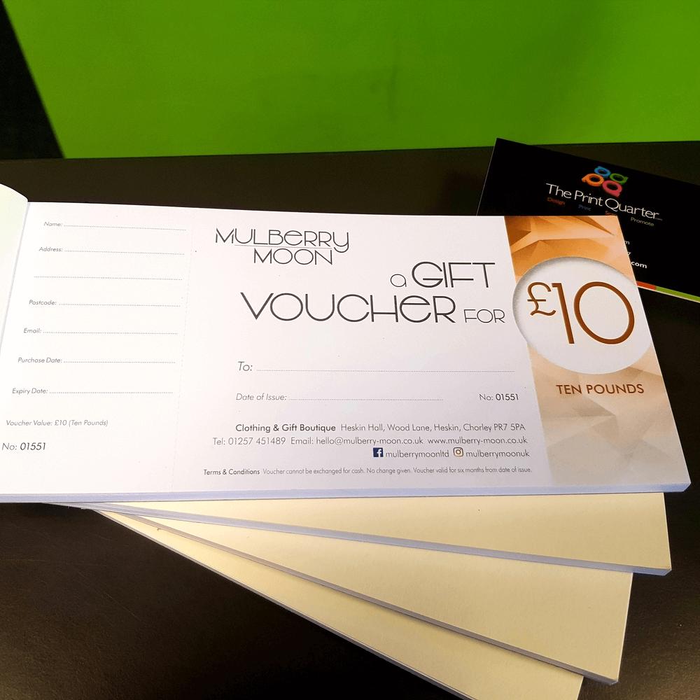 Retail Gift Vouchers