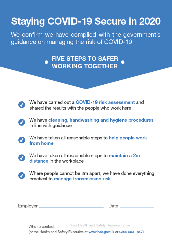 Staying COVID-19 Secure