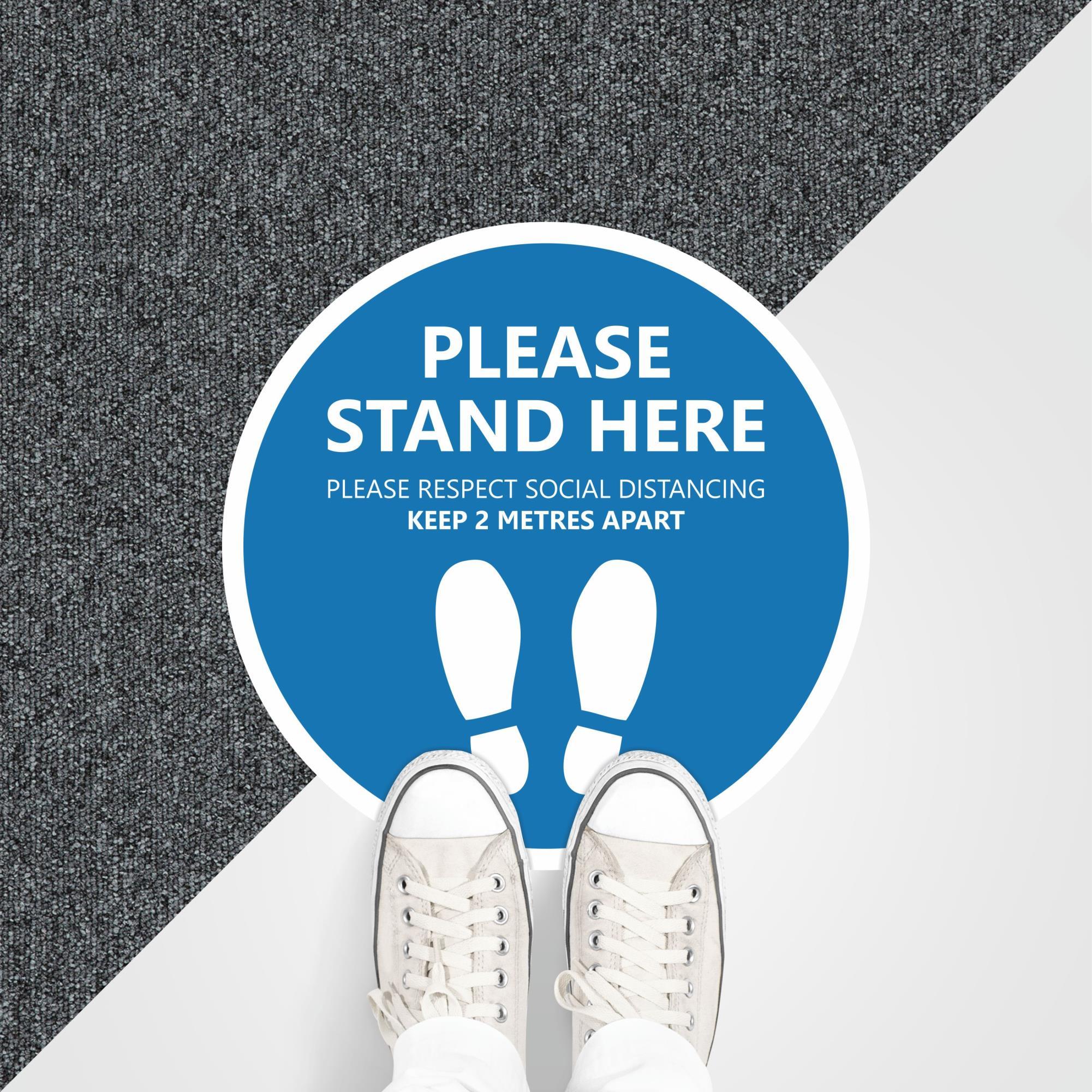 Circle Floor Sticker Internal Carpet