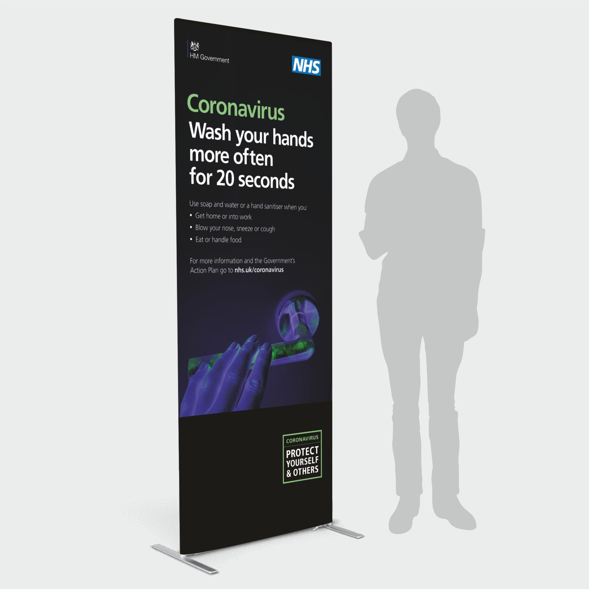 Covid Fabric Stand NHS