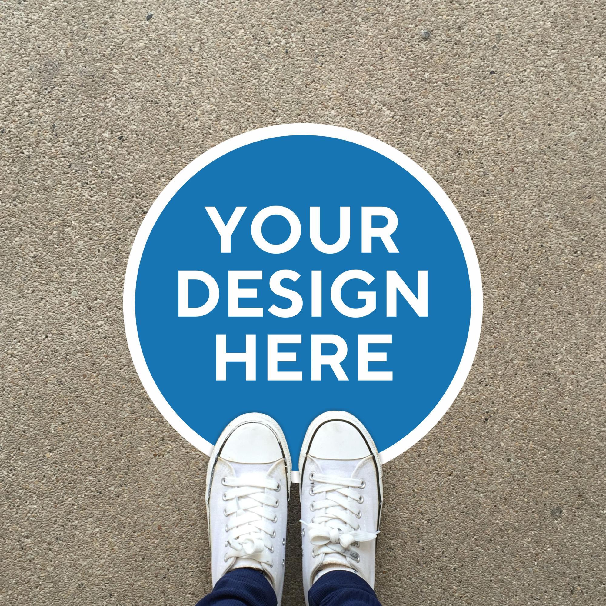 Custom Floor Graphic Circle