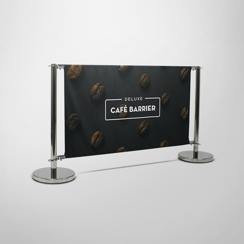 Deluxe Cafe Barrier 1500mm -  Double-Sided Front