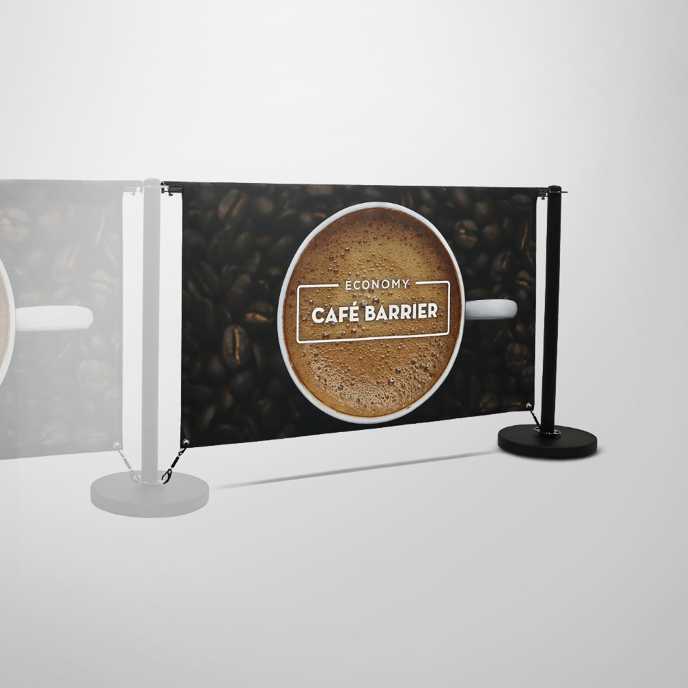 Economy Cafe Barrier - Double-Sided Extension