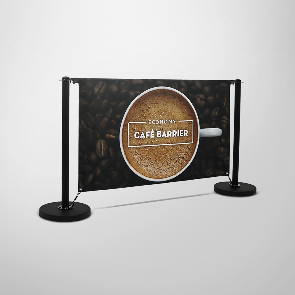 Economy Cafe Barrier - Double-Sided Front