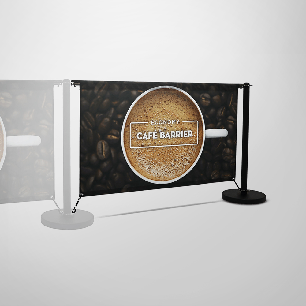 Economy Cafe Barrier - Single-Sided Extension