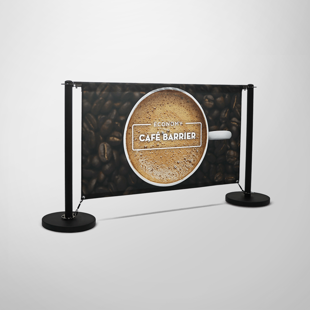 Economy Cafe Barrier - Single-Sided Front