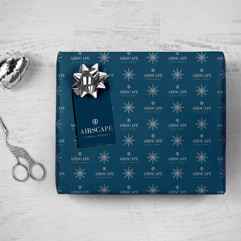 Wrapping Paper Foil Branded