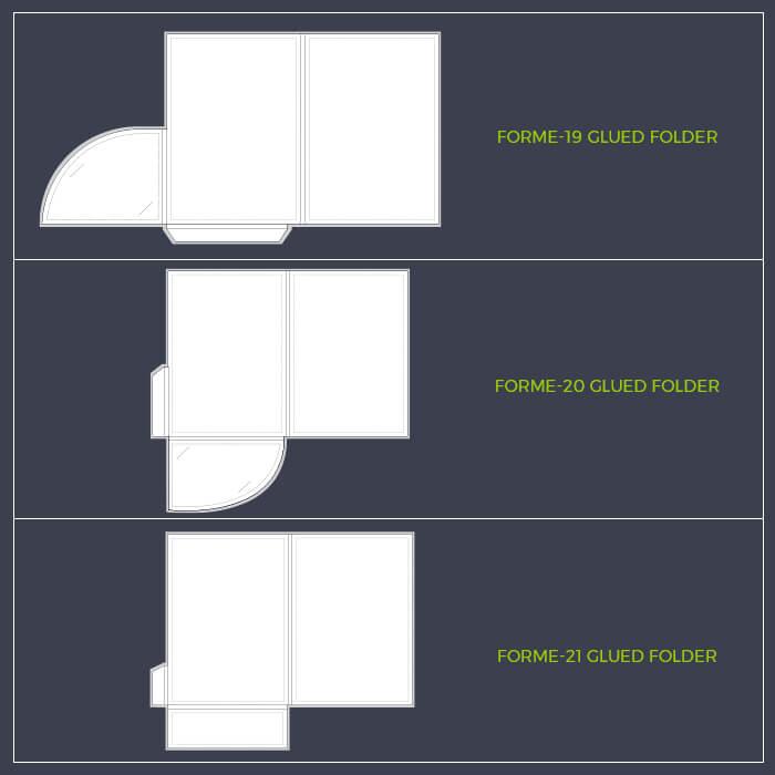 A5 Glued Folder Template