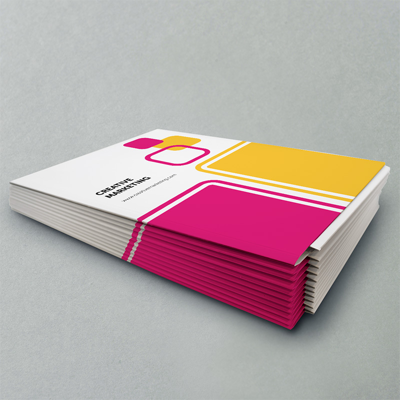A5 Glued Folder