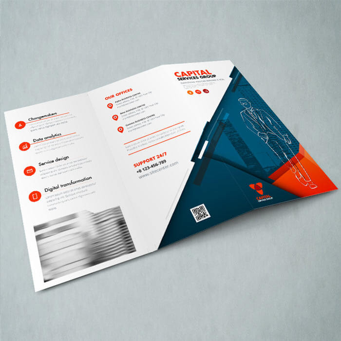 Creased Leaflet A4 To Dl 2