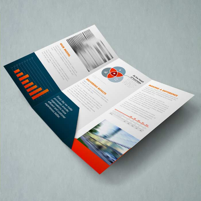 Creased Leaflet A4 To Dl
