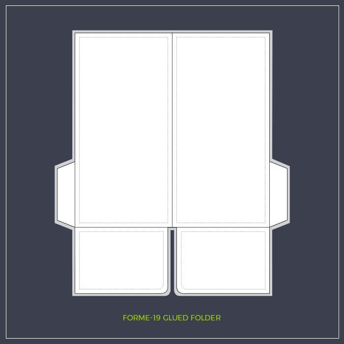 Dl Glued Folder Template