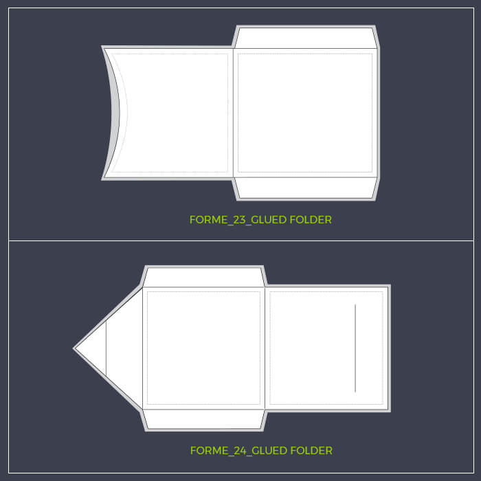 Square Glued Folder Template