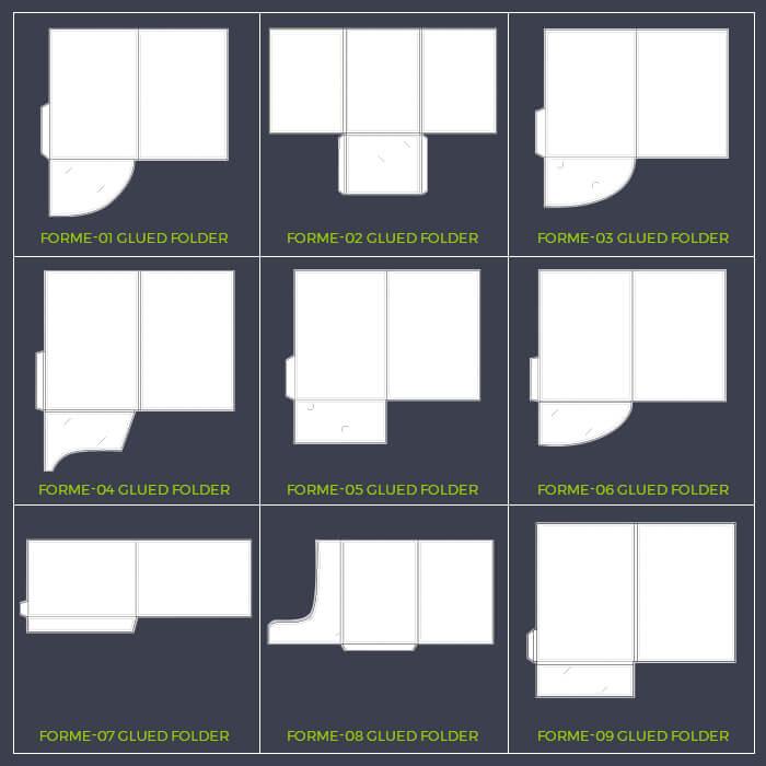 Glued Folder Formes 1