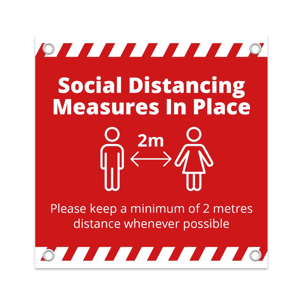 1x1 Social Distance Banner - Alert