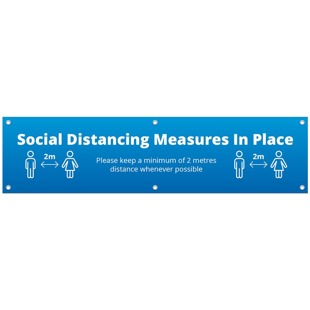 2x0.5 Social Distance Banner - Blue
