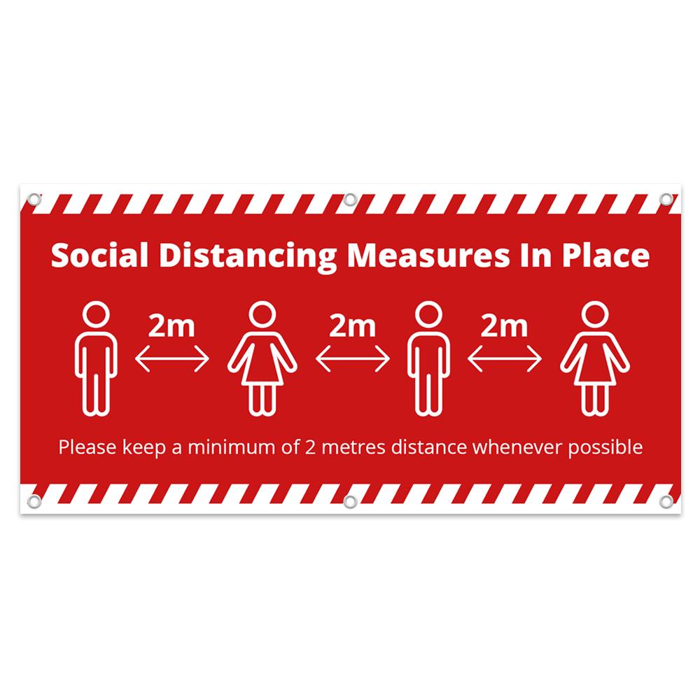 2x1 Social Distance Banner - Alert