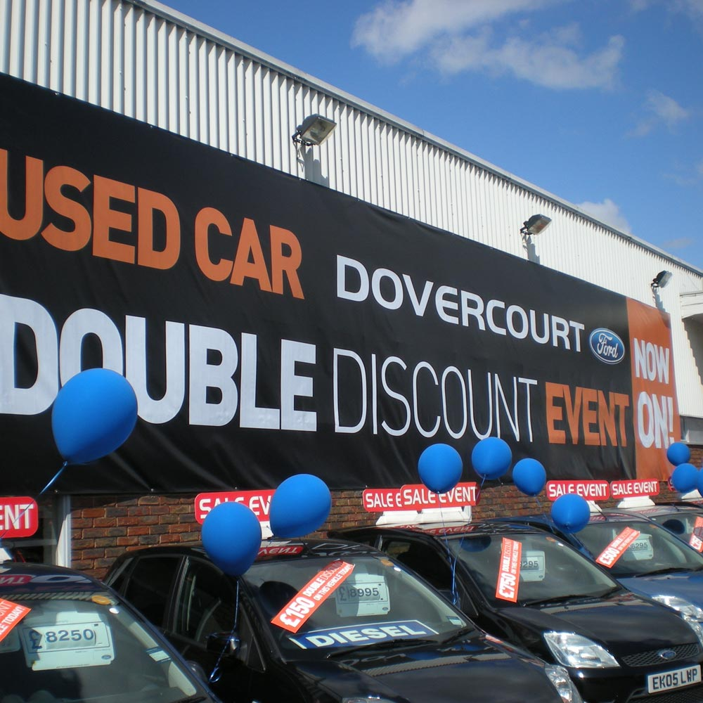 440gsm PVC Banner at car dealership