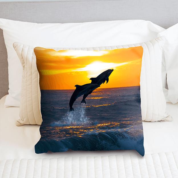 Custom Printed Cushions - Dolphins