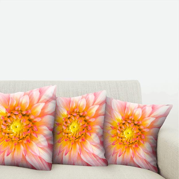 Custom Printed Cushions - Pink Flowers