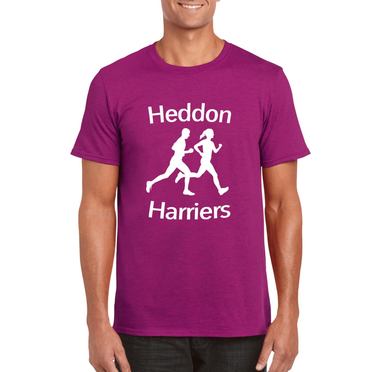 Custom Printed T-Shirt - Berry - Harriers