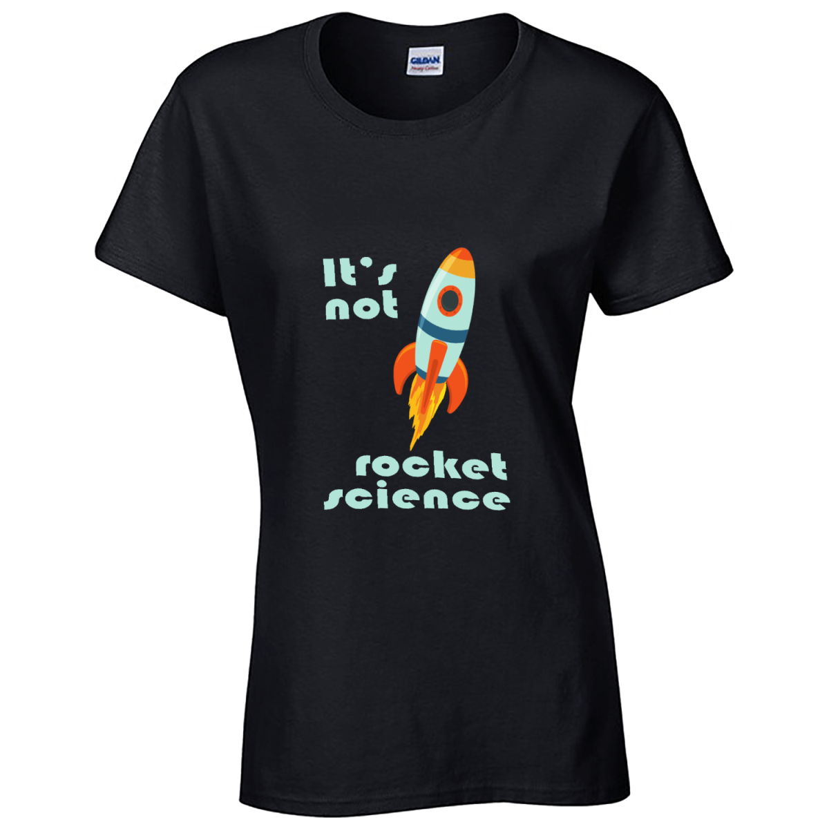 Custom Printed T-Shirt - Black - Rocket