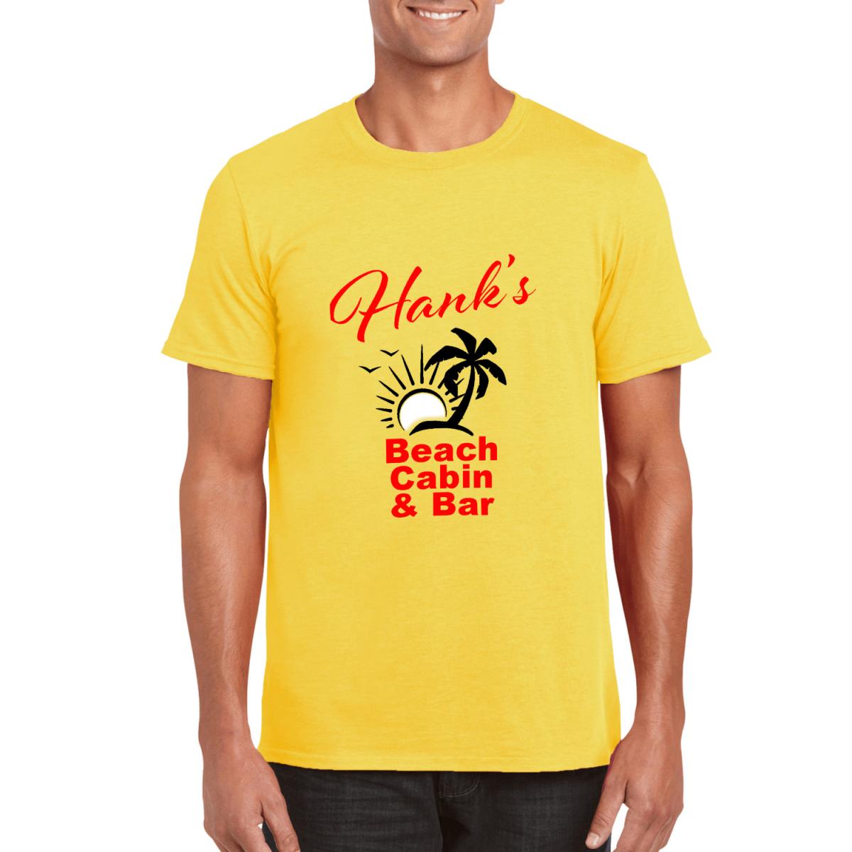 Custom Printed T-Shirt - Yellow - Beach Cabin