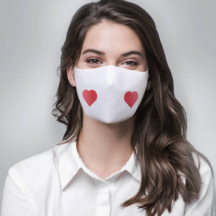 Fabric Mask - Heart