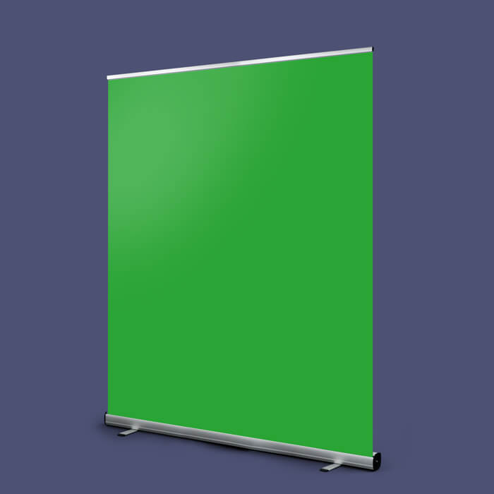 Green Screen Roller Banner