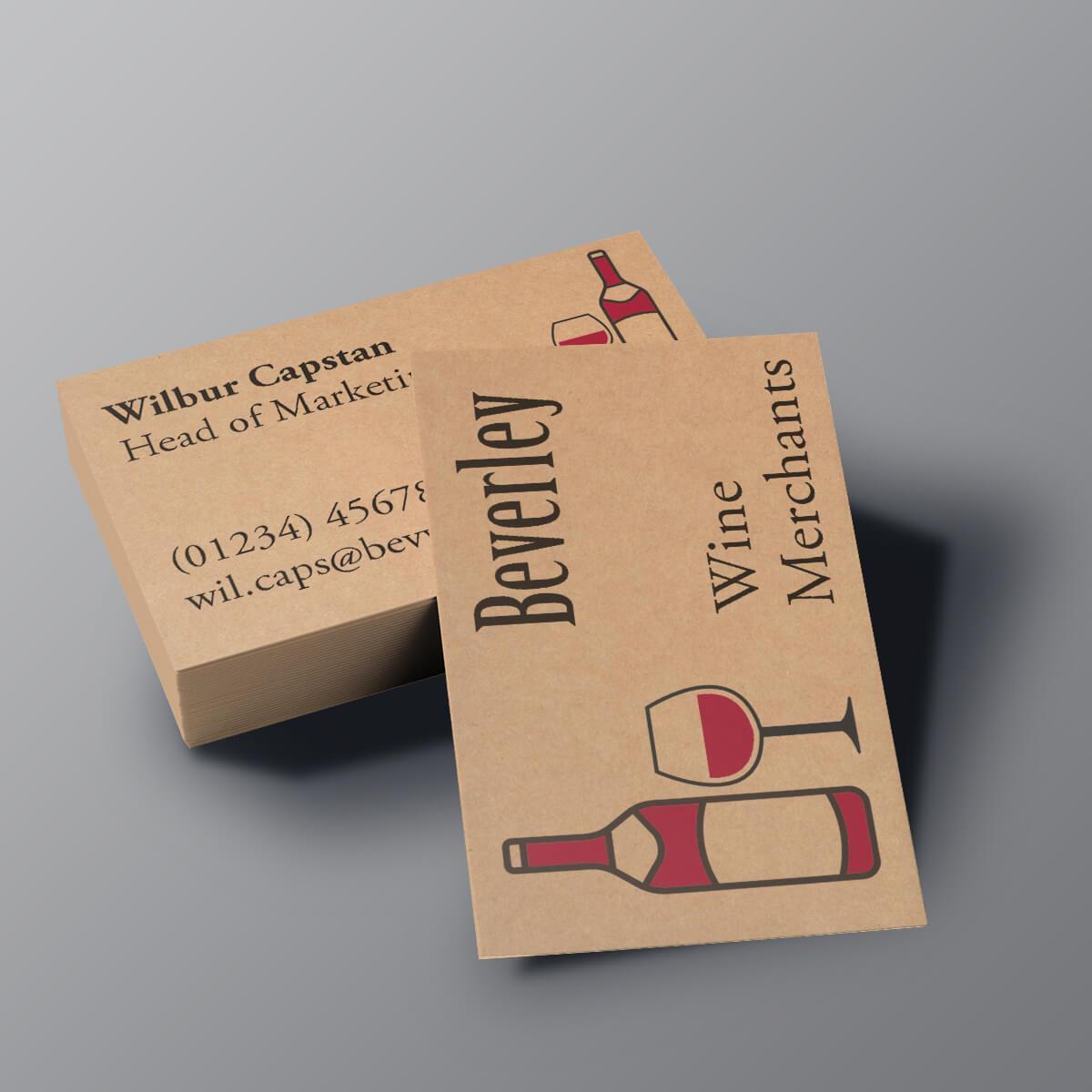 Kraft Business Cards - Beverley Wine