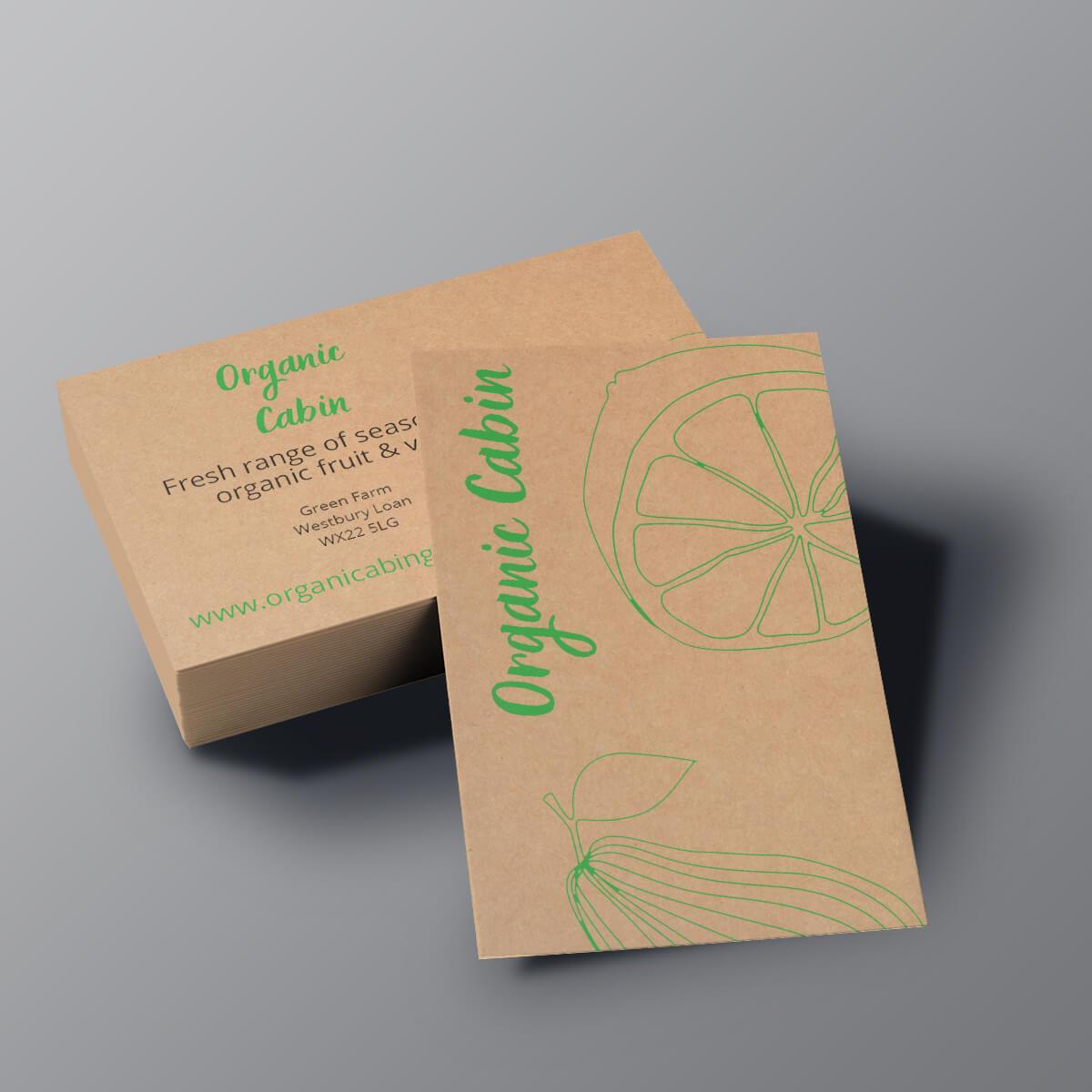 Kraft Business Cards - Organic Cabin Color