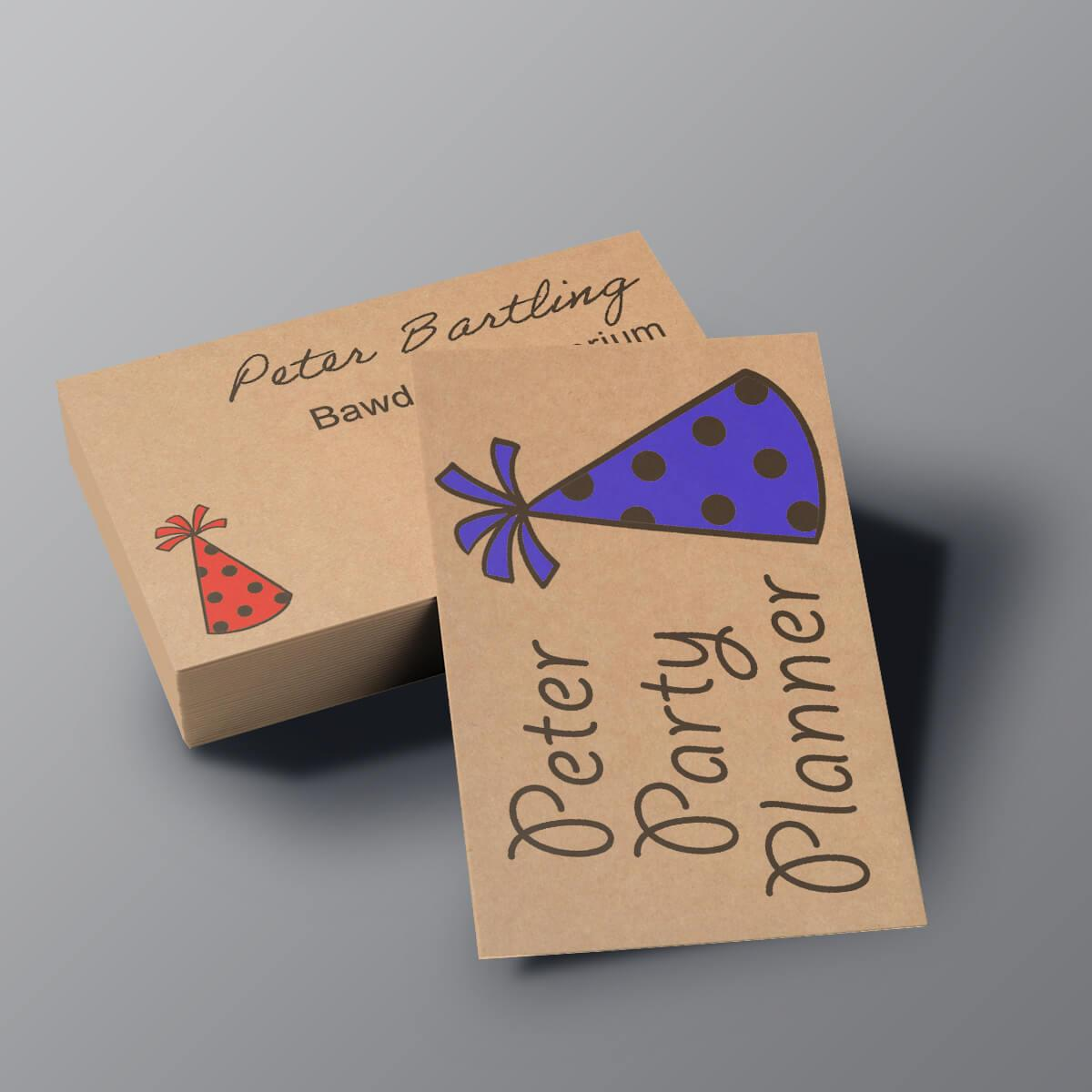 Kraft Business Cards - Peter Party