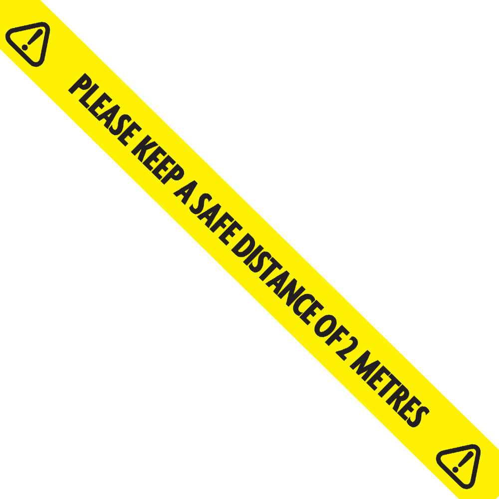 Laminated Floor Tape - Safe Distance