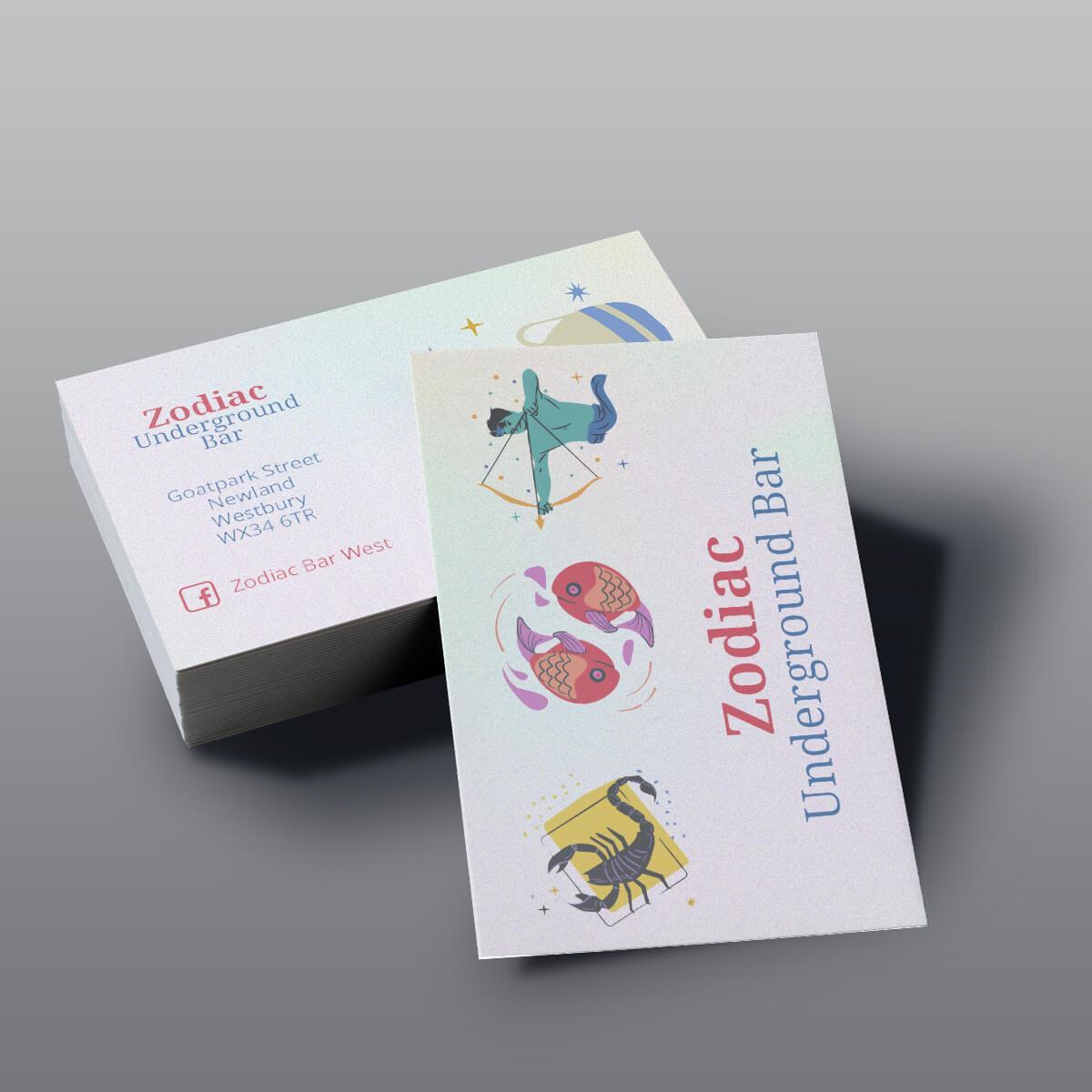 Pearl Business Cards - Zodiac Bar