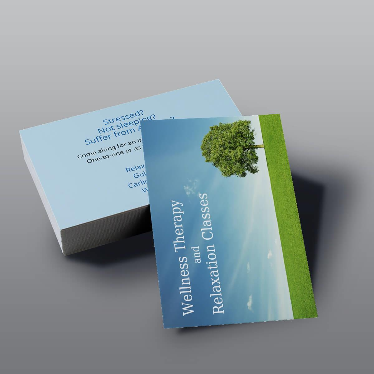 Uncoated Business Cards - Wellness