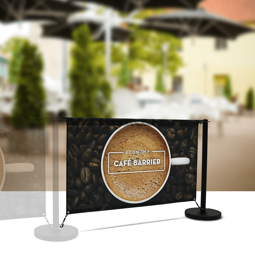 Cafe-Barrier Economy 1500 Single-Sided Extension