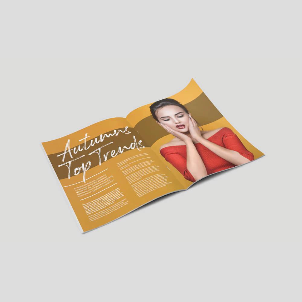 Crown Quatro Stapled Booklet - Long Edge