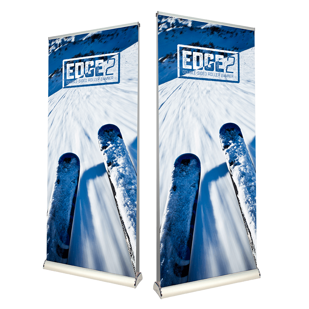 Edge 2 Premium Double Sided Roller Banner