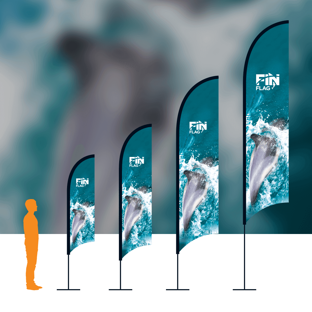 Fin Flag With Background
