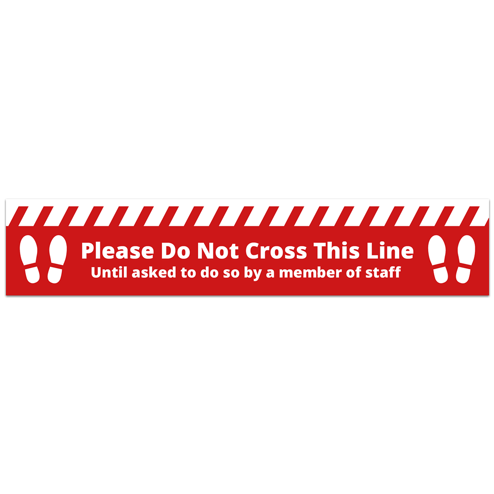 Floor Vinyl - Do Not Cross Alert