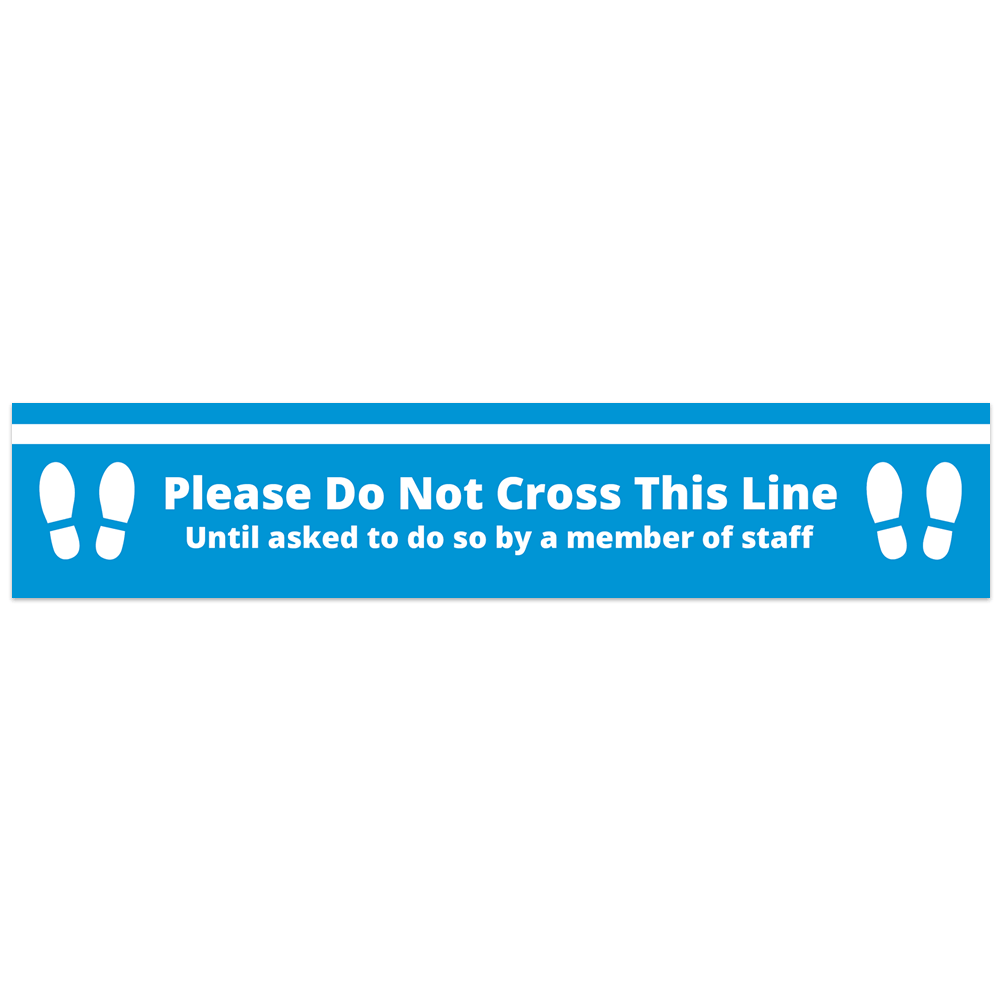 Floor Vinyl - Do Not Cross Blue