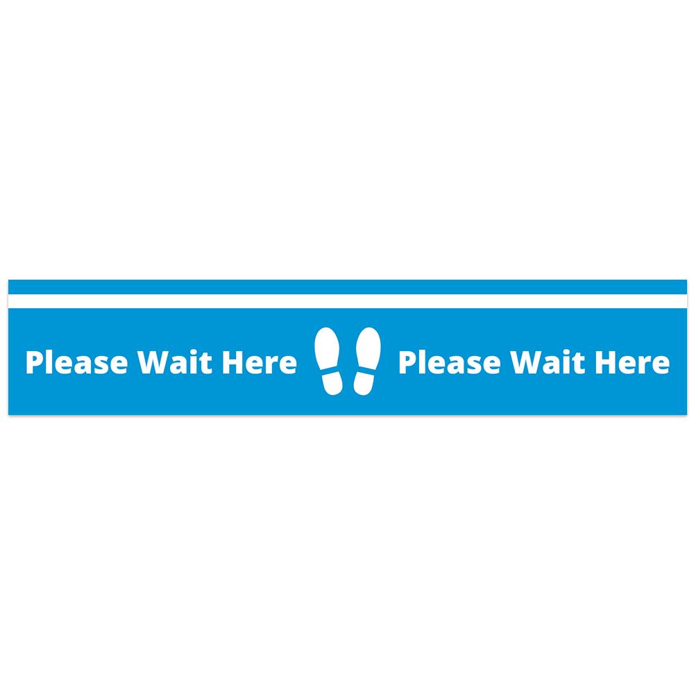 Floor Vinyl - Wait Here Blue