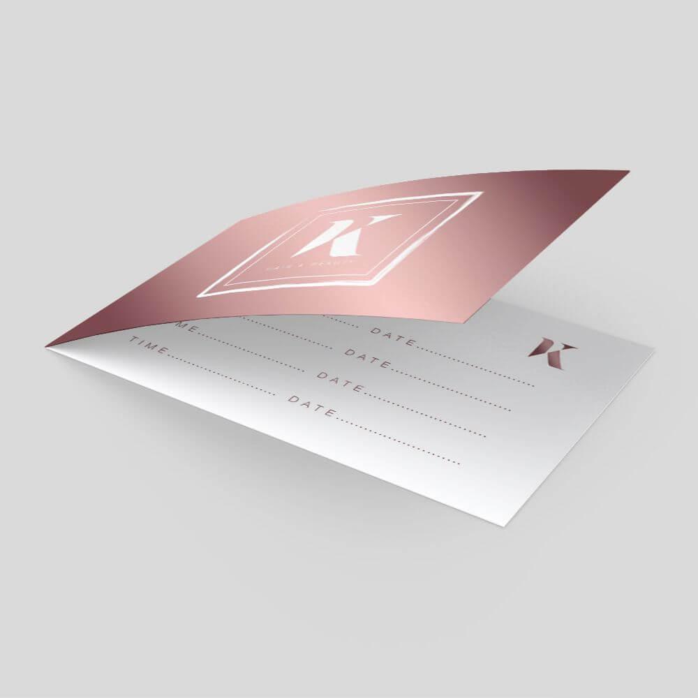 Folded Business Card - Short Edge
