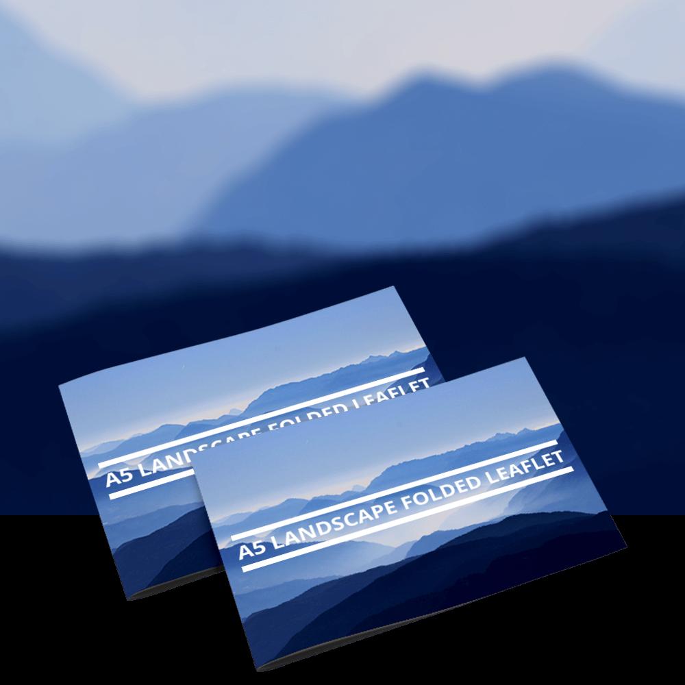 Landscape Folded Leaflets Truprint Media