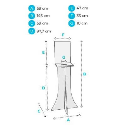 Hand Sanitiser Dispenser Stand - Hole Stand Dimensions