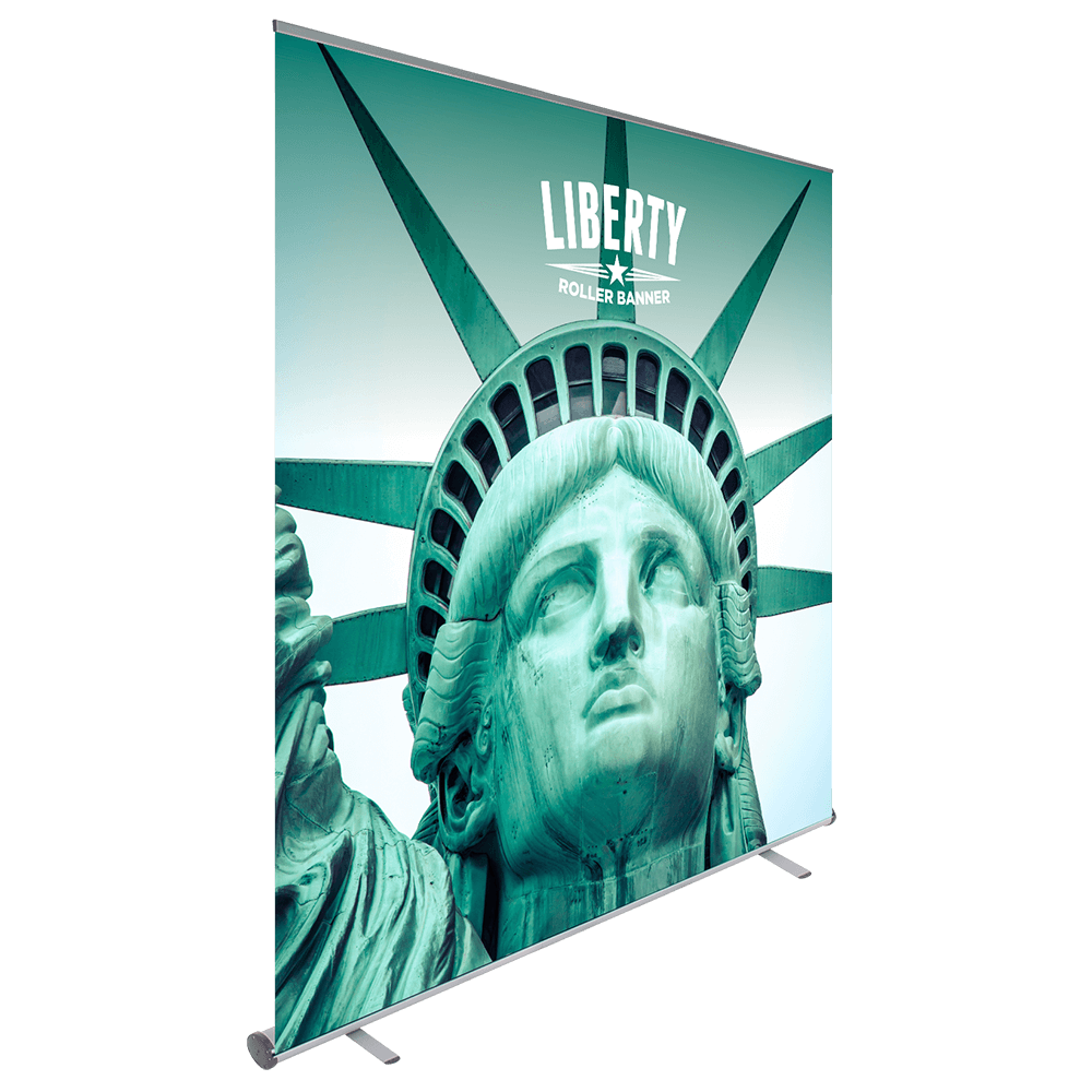Product image of a wide Liberty Roller Banner