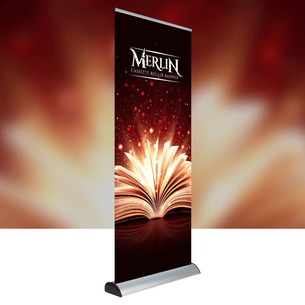 Merlin Roller Banner with replaceable graphics