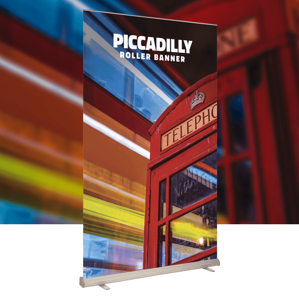 Piccadilly super wide & high indoor Roller Banner